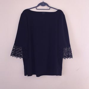 Black Ann Taylor Factory Top